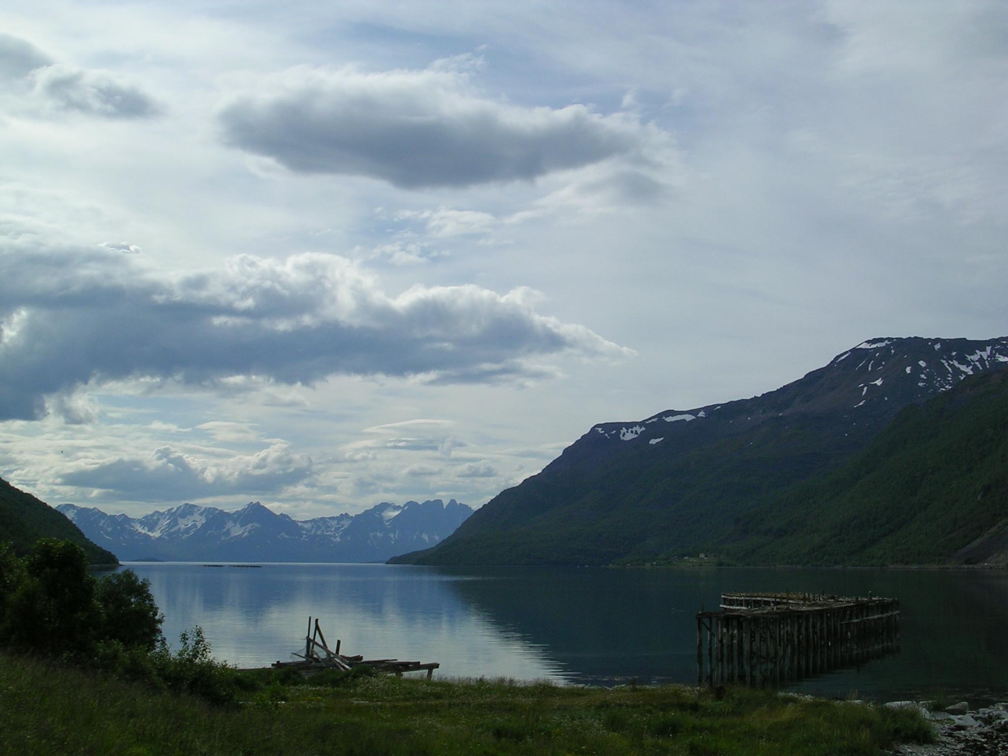 Paisaxe á beira da E6 (Noruega)