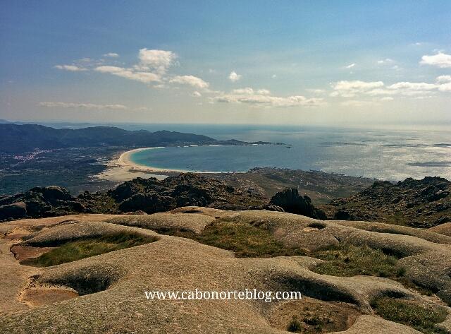 Praia de Carnota desde o Monte Pindo