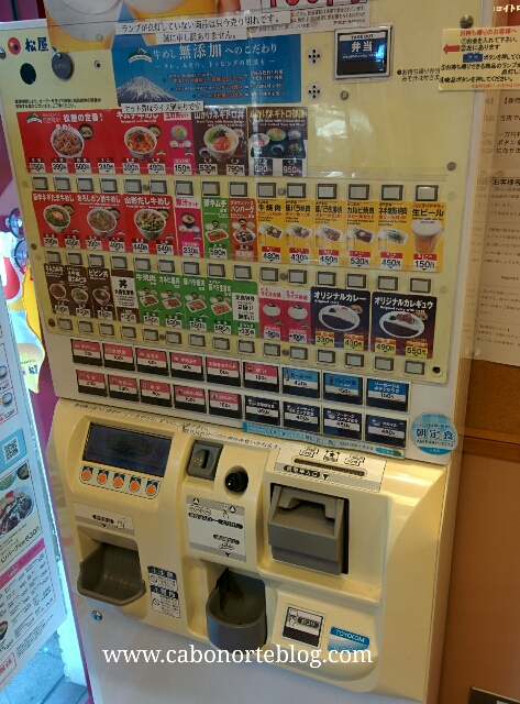 maquina de pagar comida, japon, tokio