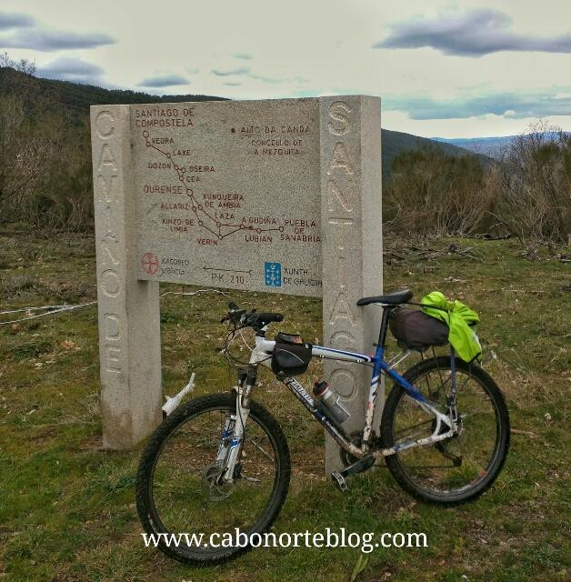 camino de santiago, camino sanabrés, a canda, galicia, bici