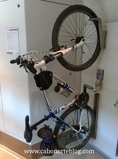 Forma de llevar la bici en el tren Regional