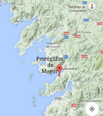 Situación dos Petróglifos de Mogor
