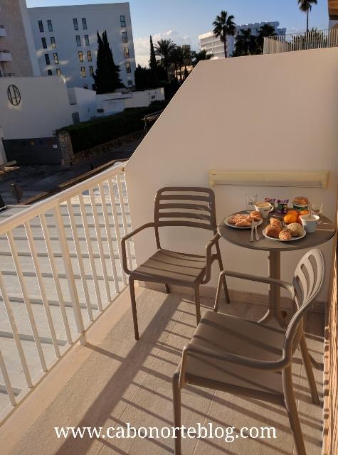 Terraza en un hotel de Mallorca