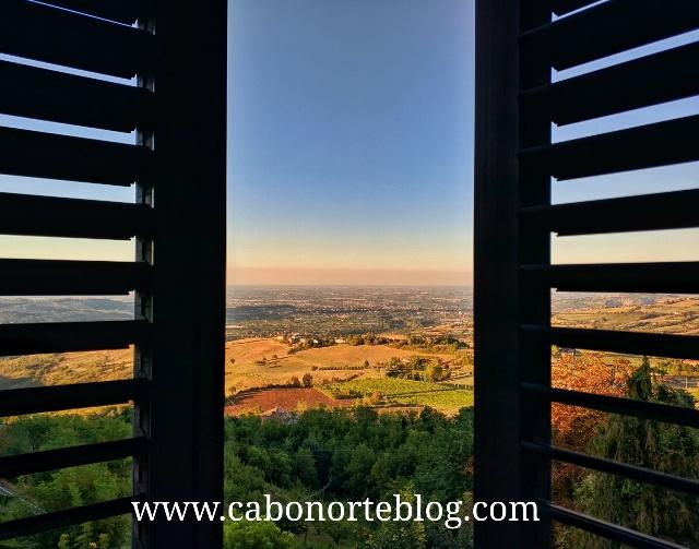 Vistas desde nuestro hotel de Guiglia