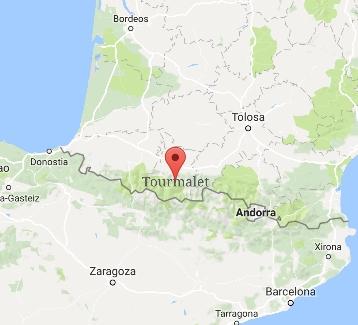 tourmalet mapa