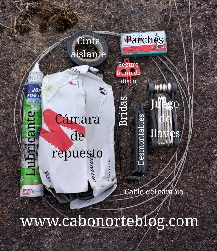 Recambios recomendables para llevar en el Camino de Santiago