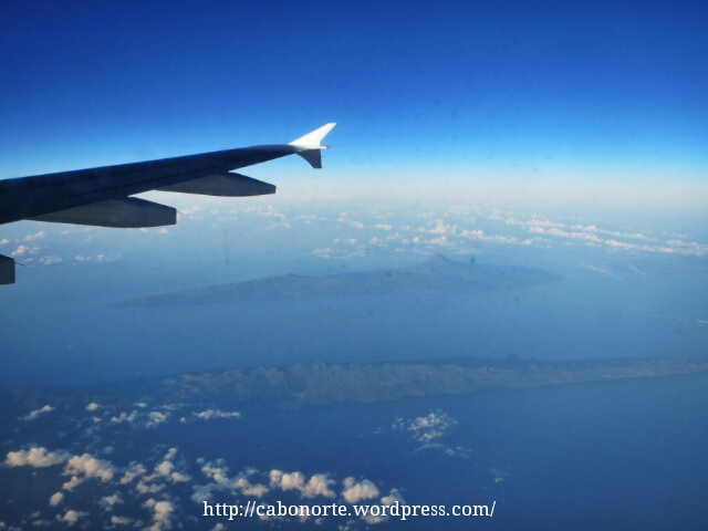 Islas Azores desde el avión