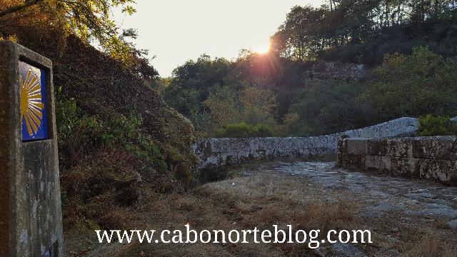 Camiño de Santiago en Ponte Taboada