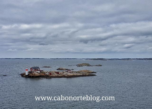 Entrada por mar en Gotemburgo desde Dinamarca