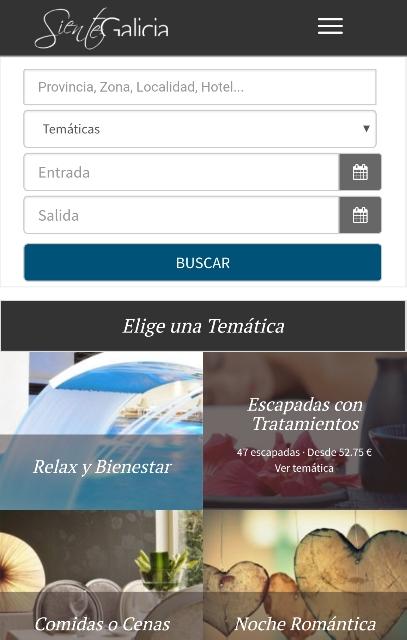 Web de reservas de Siente Galicia