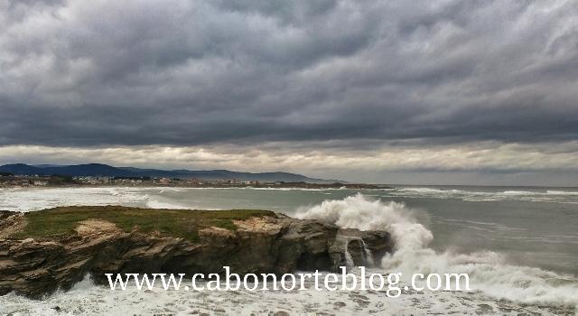 La Costa de Barreiros en temporal