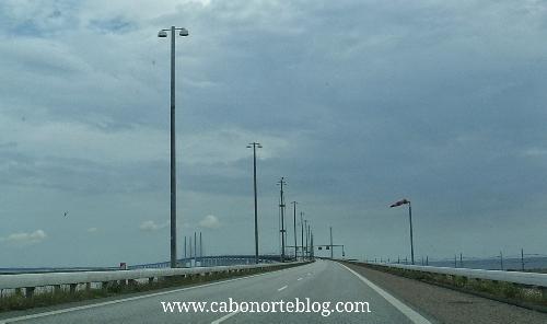 El puente de Oresund, entre Dinamarca y Suecia, es de pago.
