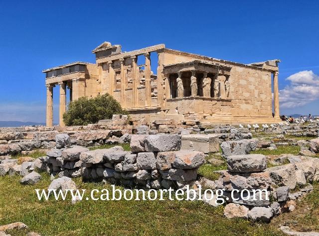 Erecteion, en la Acrópolis de Atenas