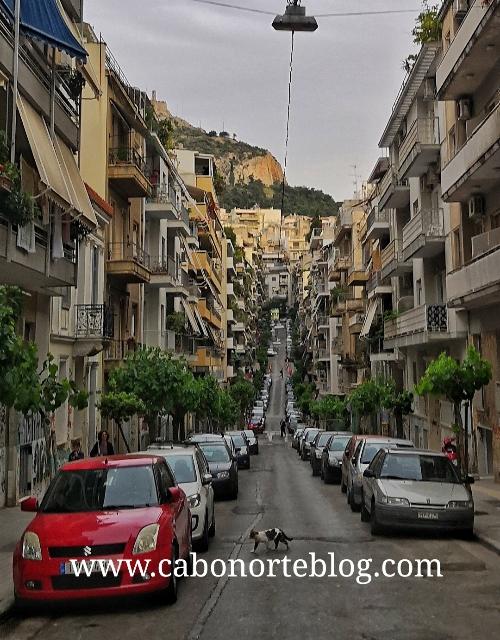 Una calle de Atenas