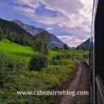 En tren entre Linz y Graz
